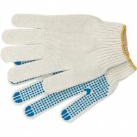 Перчатки трикотажные для ремонтных и строительных работ, антискольжение,ПВХ-покрытие