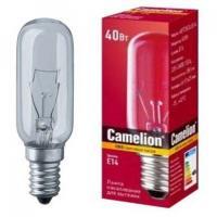 Лампа накаливания Camelion E14 40W прозрачная (для вытяжек)