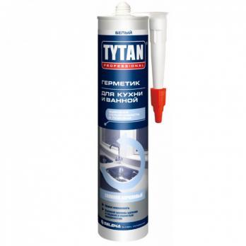 Герметик силикон санитарный белый 280 мл TYTAN Professional
