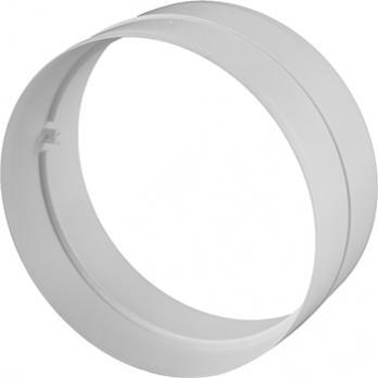 Соединитель ВЕНТС для круглых воздуховодов без клапана пластиковый d100мм (111 Р)