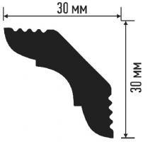 Плинтус E 30/30 (120) (потолочный) (Белый)