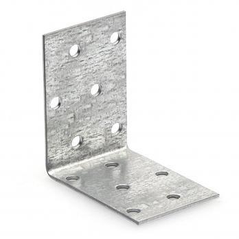 Крепежный уголок равносторонний оцинкованный 60х60х 40х2,0мм