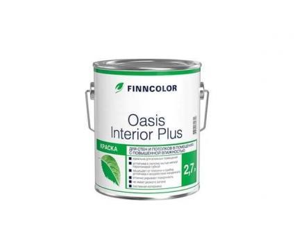 Краска OASIS INTERIOR PLUS A для стен и потолков влажных помещений 2.7 л Финнколор