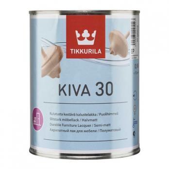 Лак КИВА 30 ЕР акрилатный полуматовый 0,9 л Тиккурила