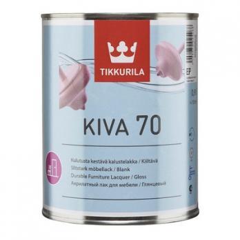 Лак КИВА 70 ЕР акрилатный глянцевый 0,9 л Тиккурила