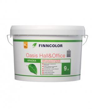 Краска OASIS HALL@OFFICE А  4 для стен и потолков устойчивая к мытью 9 л Финнколор