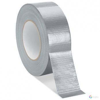 Лента клейкая армированная, влагостойкая, 48 мм х 40 м, серебристая