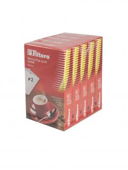 Фильтры для кофе Filtero, №2/40, белые для кофеварок с колбой на 4-8 чашек