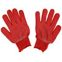 Перчатки нейлоновые с ПВХ, размер L, красный