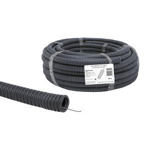 Труба гофрированная ПВХ 20мм с зондом черная легкая (цена за 1м)