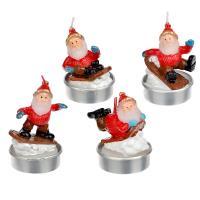 Свеча чайная в виде Деда Мороза СНОУ БУМ, 6,3см, парафин