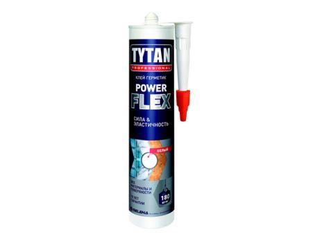 Монтажный клей POWER FLEX, прозрачный, 290 мл TYTAN Professional
