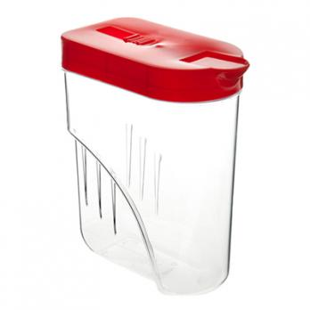 Банка для сыпучих продуктов пластмассовая 1л, 13,4х7,8х19см