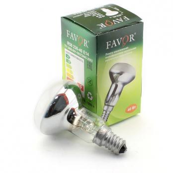 Лампа накаливания Favor R50 E14 40W зеркальная