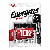 Батарейки щелочные ENERGIZER LR6 (AA) MAX 1.5В 4шт.