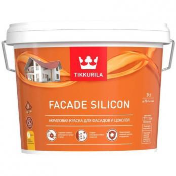 Краска фасадная FACADE Silicon VVA глубокоматовая 9л Тиккурила