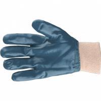 Перчатки трикотажные с обливом из бутадиен-нитрильного каучука, манжет, L// Сибртех