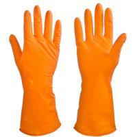 Перчатки резиновые VETTA специальные для уборки оранжевые S