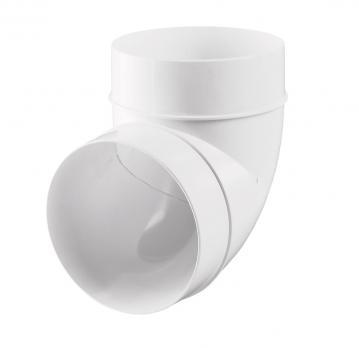 Соединитель ВЕНТС пластиковый угловой 90º для круглых воздуховодов d100мм (121 Р)