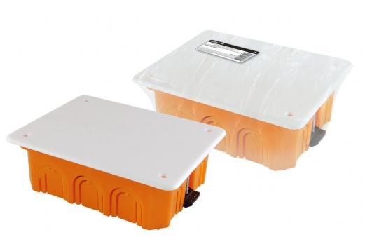 Коробка распределительная с крышкой TDM 120х92х45мм СУ для твердых стен