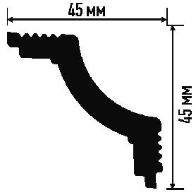 Плинтус K 45/45 (90) (потолочный) (Белый)