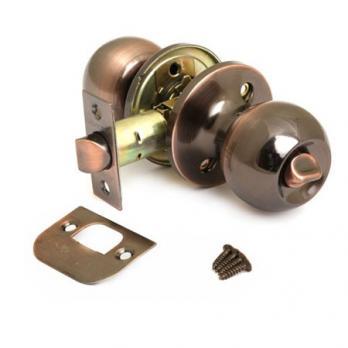 Ручки дверные с защёлкой и фиксатором Avers 6072-03-AC (Медь)