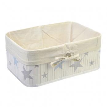 Коробка для хранения VETTA складная, бамбук, 33x23x14см (Звёзды)