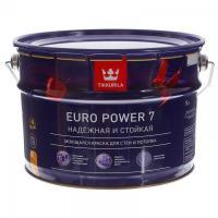 Краска ЕВРО POWER 7 А интерьерная стойкая к мытью матовая 9 л Тиккурила