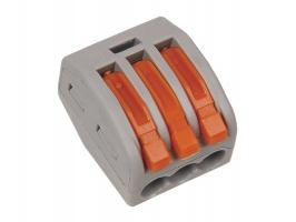 Клеммная колодка с рычагом EKF тип WAGO plc-smk-413r (2шт.)
