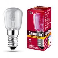 Лампа накаливания Camelion E14 15W прозрачная (для холодильников и швейных машин)