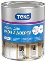 Эмаль для окон и дверей ПРОФИ белая полуглянцевая 1кг ТЕКС