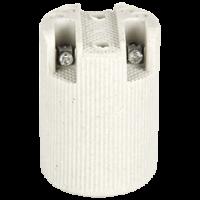 Патрон керамический Ecola E14 белый
