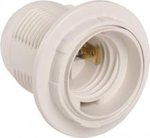 Патрон пластиковый с кольцом IEK, Е27, 4А, 250V, белый