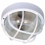 Светильник настенный Рондо 100W E27 стекло прозрачное, пластик белый
