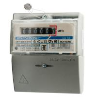 Энергомера CE101 R5.1 145 М6 счетчик эл/эн 1ф 1т 5(60)А, 6-ти разр.ЭМОУ на рейку/щиток(аналог 201.5)