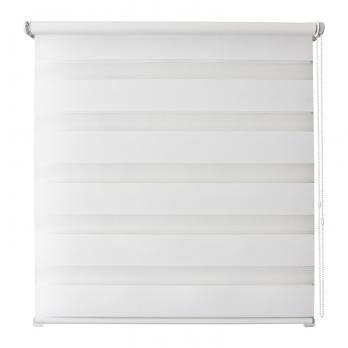 Рулонная штора день/ночь 160х160 Канзас (Белый)