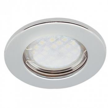 Светильник встраиваемый плоский Ecola DL90 MR16 GU5.3 30x80, Хром