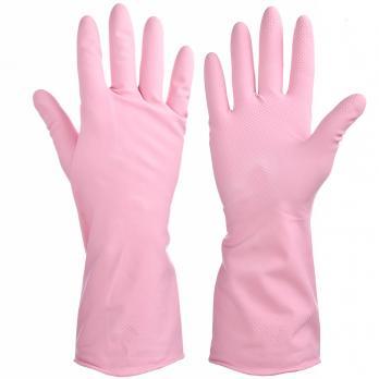 Перчатки резиновые VETTA прочные с запахом розы M