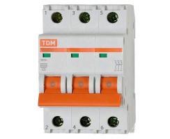 Автоматический выключатель TDM ВА47-63 3P 63А 4,5кА
