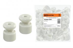 Изолятор для ретро провода TDM керамика (Белый)