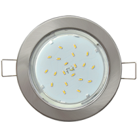Светильник встраиваемый плоский Ecola GX53-H6