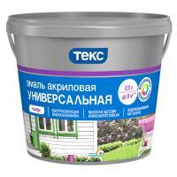 Эмаль Акриловая белая матовая 0,9л ТЕКС
