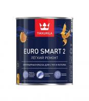 Краска ЕВРО SMART 2 VVA интерьерная глубокоматовая 0,9 л Тиккурила