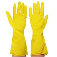 Перчатки резиновые VETTA желтые XL