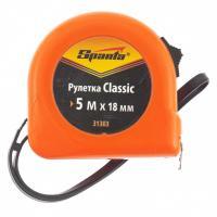Рулетка Classic, 5 м х 18 мм, пластиковый корпус// SPARTA