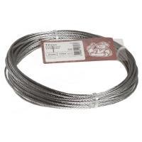 Трос стальной DIN 3055  2мм белый цинк 10 м