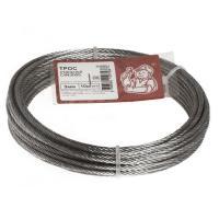 Трос стальной DIN 3055  3мм белый цинк 10 м