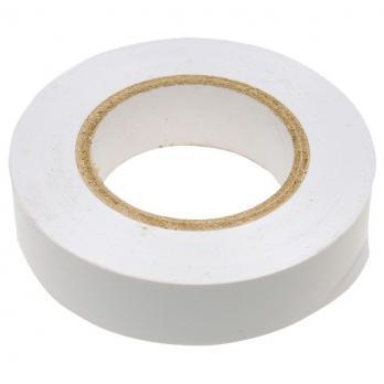 Изолента ПВХ, 19 мм х 20 м, белая// СИБРТЕХ