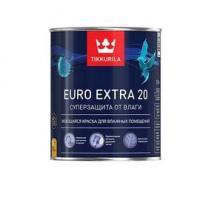 Краска ЕВРО EXTRA 20 А для влажных помещений полуматовый 0,9 л Тиккурила