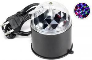 Диско-лампа Космос RGB 3W 220V, Черная